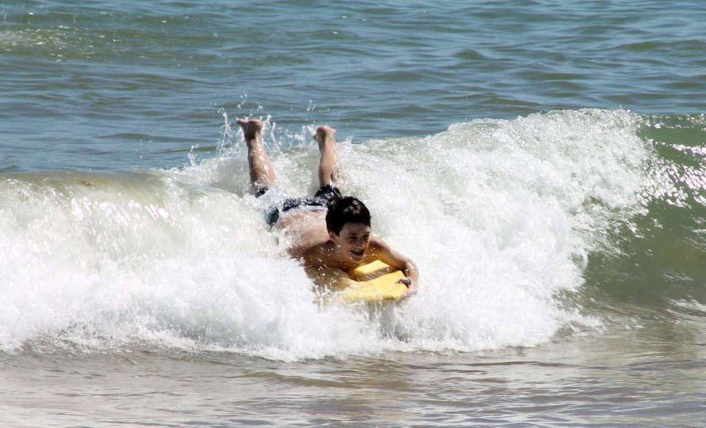 Family-friendly bodyboarding in Sanibel and Captiva Island
