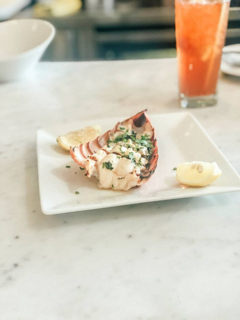 Lobster tail at the Mad Hatter