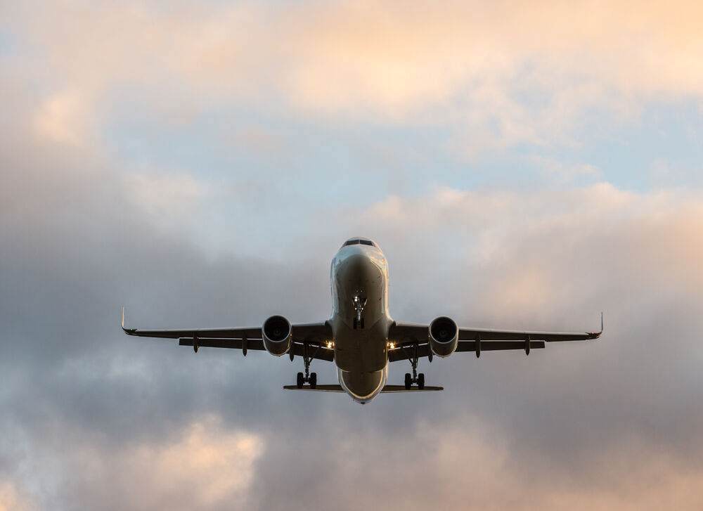 A plane flying into Sanibel Island